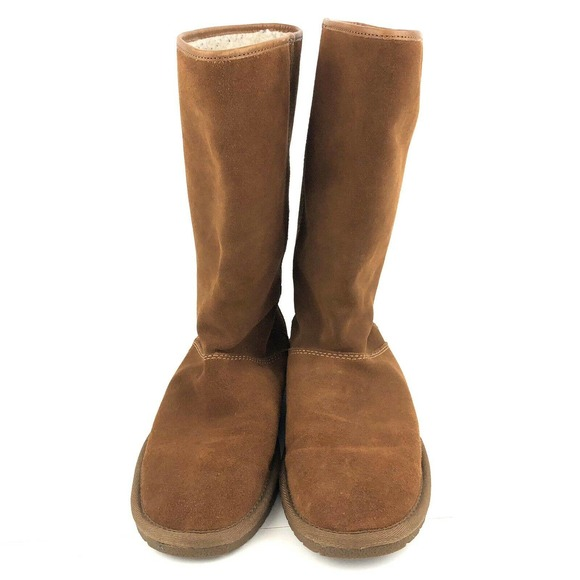 Coach Giselle Suede Winter Boots Women's 10 Saddle